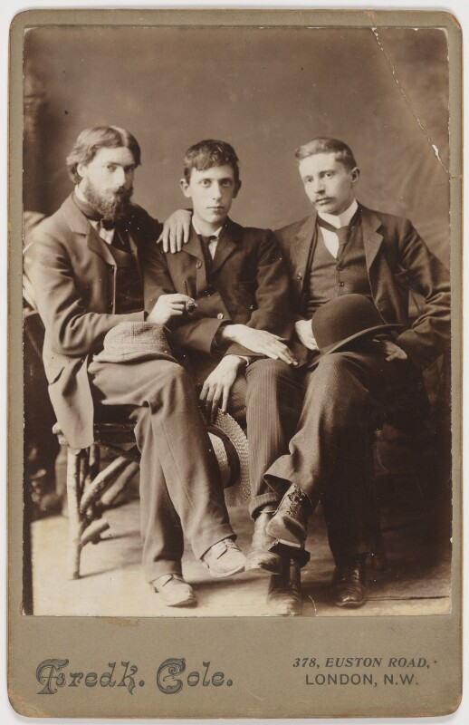Augustus John, Ambrose McEvoy and Philip Wilson Steer, by Frederick Cole, circa 1900 - NPG P1830 - © National Portrait Gallery, London