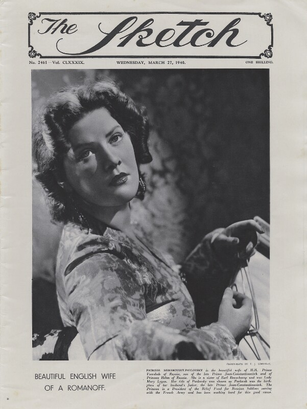 Lady Mary Lygon, by Francis Goodman, published 27 March 1940 - NPG x195046 - © National Portrait Gallery, London