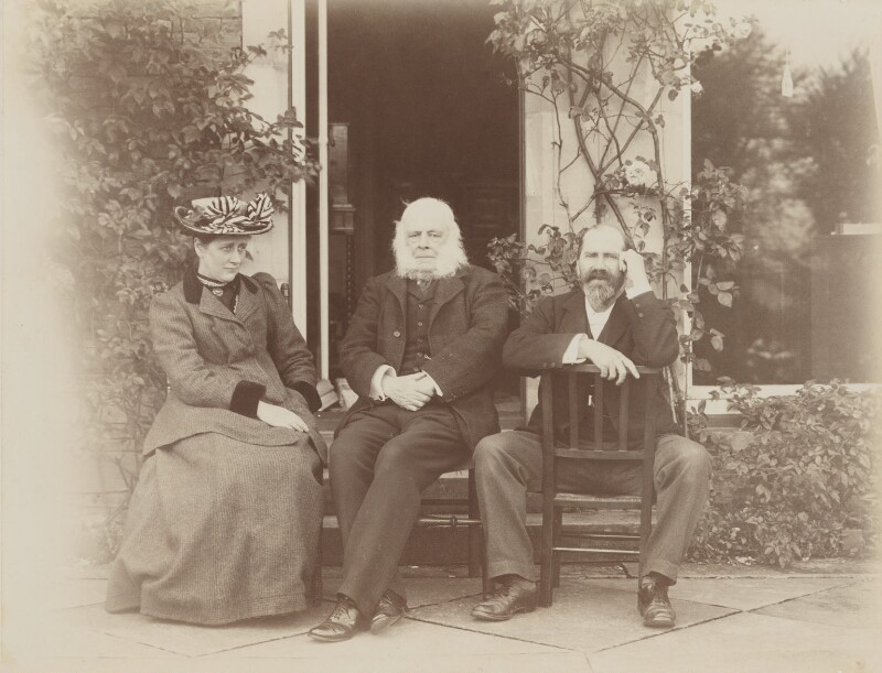 Beatrix Potter (Mrs Heelis); Rupert Potter; Hardwicke Drummond Rawnsley, by Rupert Potter, 11 September 1906 - NPG P1823 - © National Portrait Gallery, London
