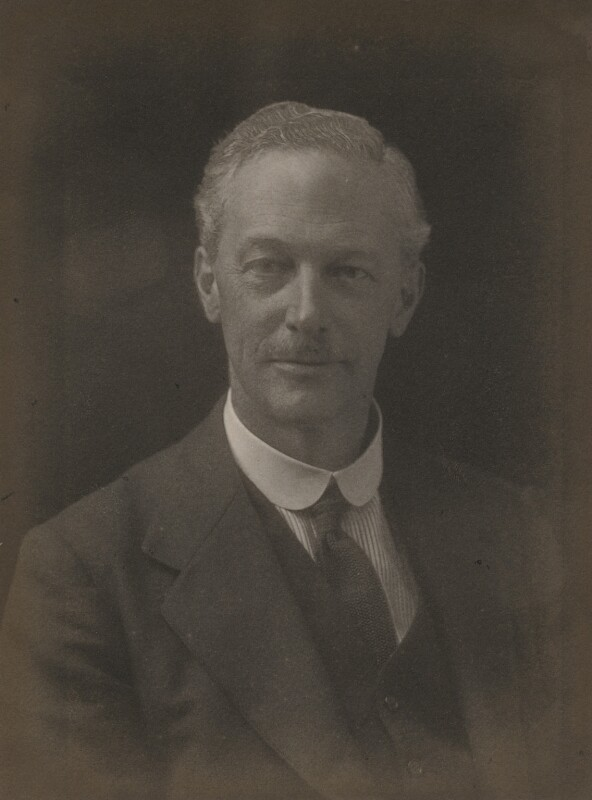 Sir Eustace Henry William Tennyson d'Eyncourt, 1st Bt, by Walter Stoneman, 1918 - NPG x185627 - © National Portrait Gallery, London