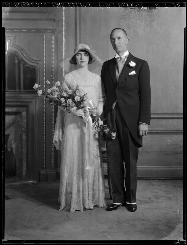 Kathleen Gilda Elliott (née Berry); Ernest George Elliott, by Lafayette, 12 August 1930 - NPG x184635 - © National Portrait Gallery, London