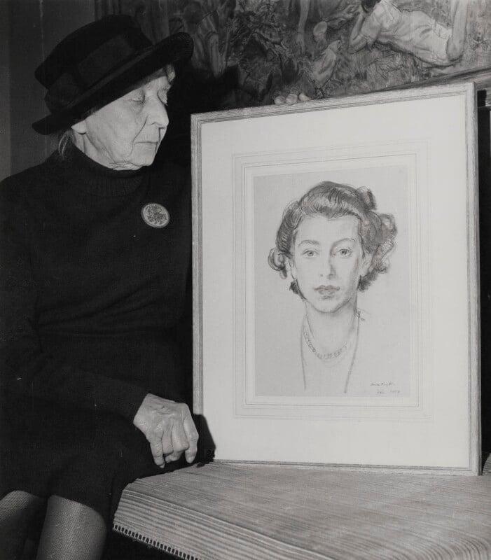 Laura Knight, by Keystone Press Agency Ltd, 14 October 1963 - NPG x137366 - © Keystone Press Agency Ltd