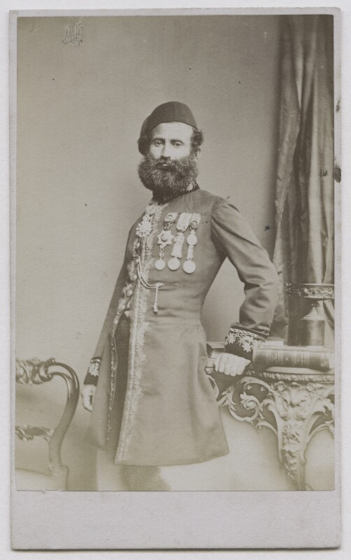 Risk Allah Bey, by London Stereoscopic & Photographic Company, 1862-1866 - NPG x137371 - © National Portrait Gallery, London