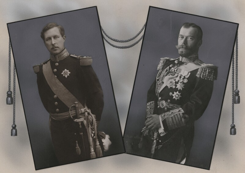Albert I, King of the Belgians; Nicholas II, Emperor of Russia, by Eugène Boute, and by  Unknown photographer, published 1914 - NPG x137452 - © National Portrait Gallery, London