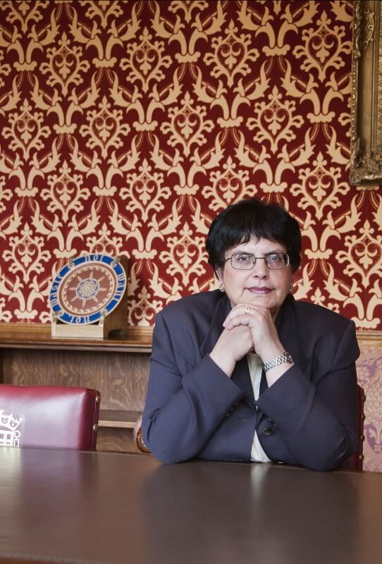 Usha Kumari Prashar, Baroness Prashar, by Anita Corbin, April 2011 - NPG x137420 - © Anita Corbin