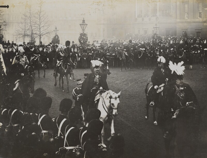 Royal mourners in Queen Victoria's funeral procession at Hyde Park Corner, by Unknown photographer, 2 February 1901 - NPG P1700(54) - © National Portrait Gallery, London