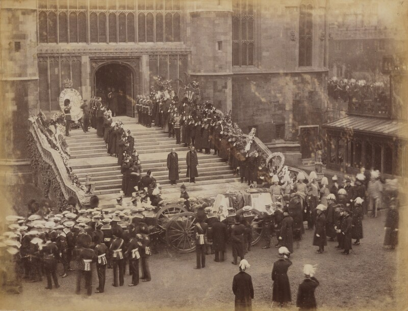 Queen Victoria's funeral procession arriving at St George's Chapel, Windsor, possibly by James Russell & Sons, 2 February 1901 - NPG P1700(56) - © National Portrait Gallery, London