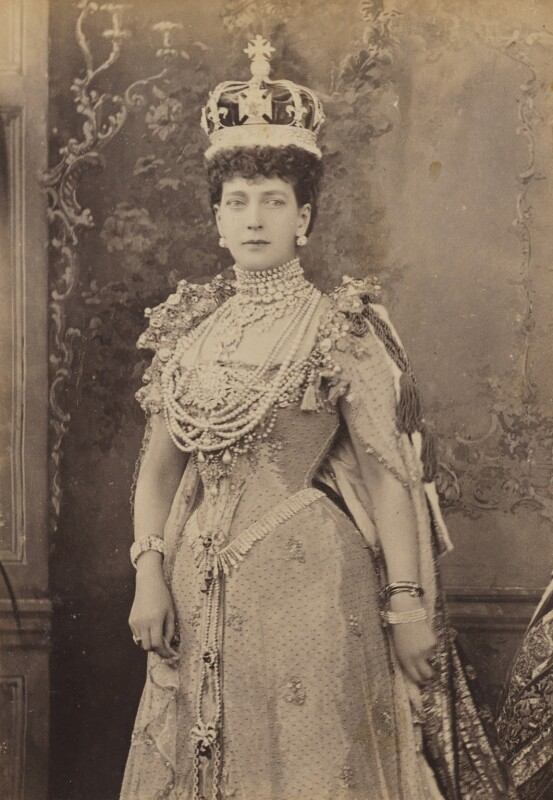 Queen Alexandra, by W. & D. Downey, 9 August 1902 - NPG P1700(61a) - © National Portrait Gallery, London