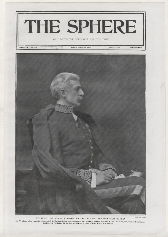 George Wyndham, by H. Walter Barnett, 1903, published 11 March 1905 - NPG x137472 - © National Portrait Gallery, London