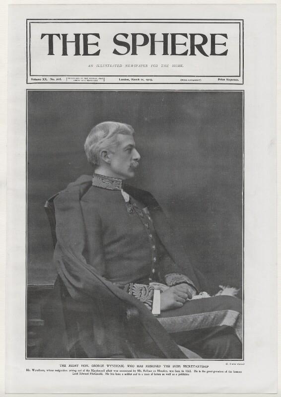 George Wyndham, by Henry Walter ('H. Walter') Barnett, 1903, published 11 March 1905 - NPG x137472 - © National Portrait Gallery, London