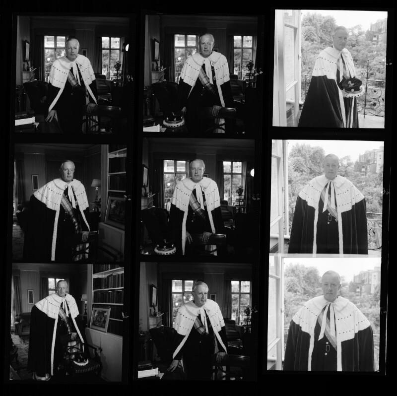 Basil William Shotto Mackenzie, 2nd Baron Amulree, by Francis Goodman, July 1953 - NPG x195099 - © National Portrait Gallery, London