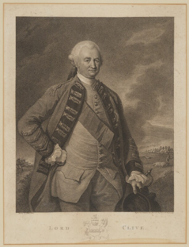 Robert Clive, 1st Baron Clive, by Francesco Bartolozzi, after  Nathaniel Dance (later Sir Nathaniel Holland, Bt), 1788 - NPG D42733 - © National Portrait Gallery, London