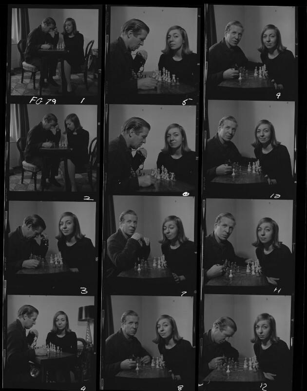William de l'Aigle Buchan, 3rd Baron Tweedsmuir; Hon. Perdita Caroline Connolly (née Buchan), by Francis Goodman, November 1965 - NPG x195424 - © National Portrait Gallery, London