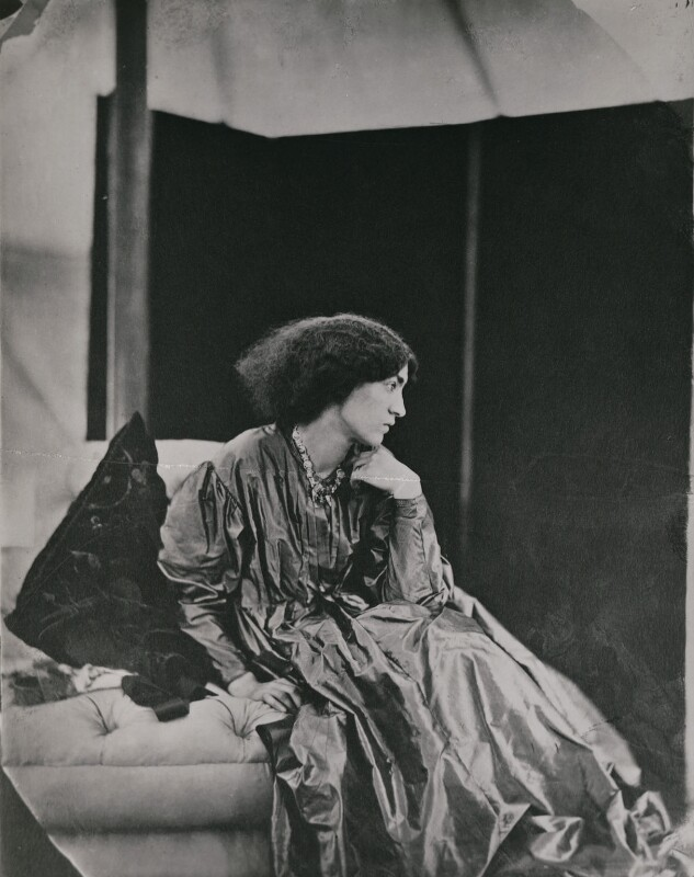 Jane Morris (née Burden), by John Robert Parsons, copied by  Emery Walker Ltd, July 1865 - NPG x137525 - © National Portrait Gallery, London