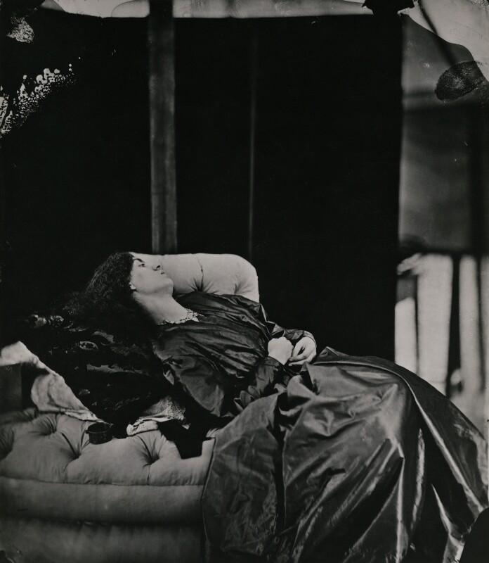 Jane Morris (née Burden), by John Robert Parsons, copied by  Emery Walker Ltd, July 1865 - NPG x137528 - © National Portrait Gallery, London
