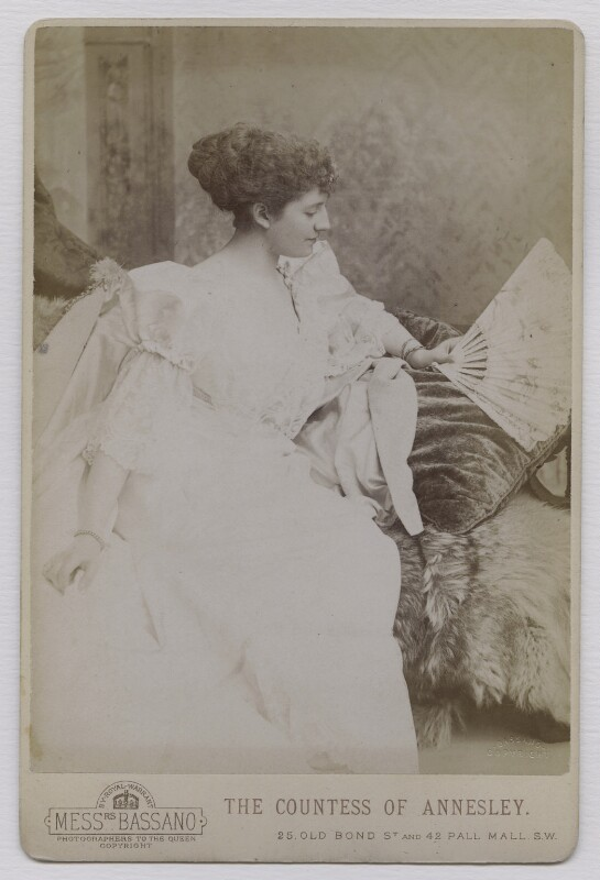 Priscilla Cecilia (née Moore), Countess Annesley, by Alexander Bassano, circa 1891 - NPG x137562 - © National Portrait Gallery, London