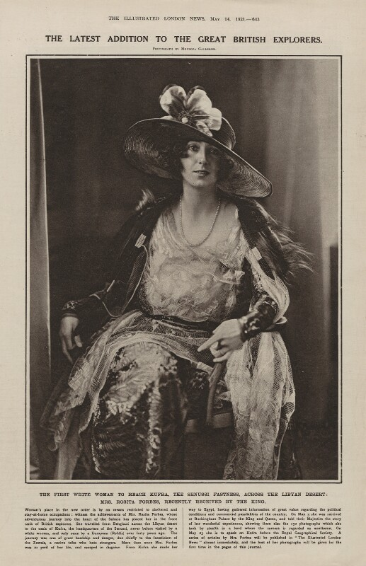 Rosita Forbes, by Mendoza Galleries, published 14 May 1921 - NPG x137585 - © National Portrait Gallery, London