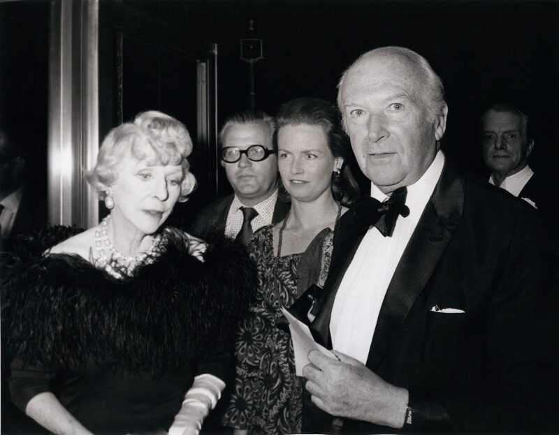 Lady Diana Cooper; John Cooper, 2nd Viscount Norwich; Anne (née Clifford), Viscountess Norwich; Cecil Beaton, by Unknown photographer, 1970s - NPG x184196 - © reserved; National Portrait Gallery, London