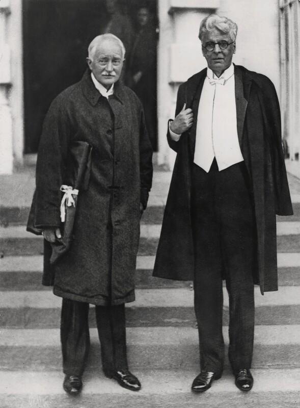 John Masefield; W.B. Yeats, by Keystone Press Agency Ltd, 1 January 1935 - NPG x137606 - © Keystone Press Agency Ltd