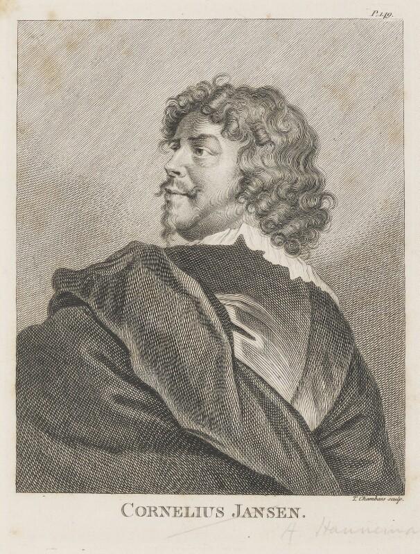 Cornelius Johnson (Cornelius Janssen van Ceulen), by Thomas Chambers (Chambars), published 1762 - NPG D42863 - © National Portrait Gallery, London