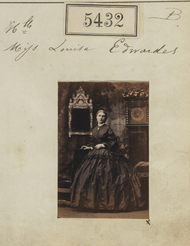 Hon. Louisa Jane Newenham (née Edwardes), by Camille Silvy, 10 August 1861 - NPG Ax55392 - © National Portrait Gallery, London
