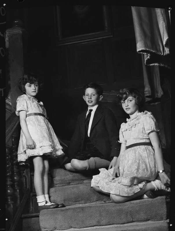 The children of 1st Baron Killearn, by Navana Vandyk, 15 January 1953 - NPG x98789 - © National Portrait Gallery, London