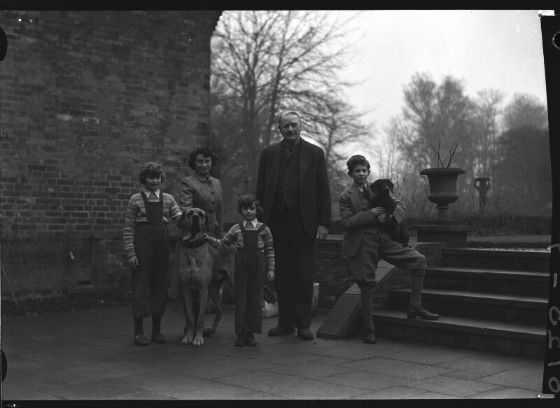 1st Baron Killearn and family, by Navana Vandyk, 15 January 1953 - NPG x98781 - © National Portrait Gallery, London