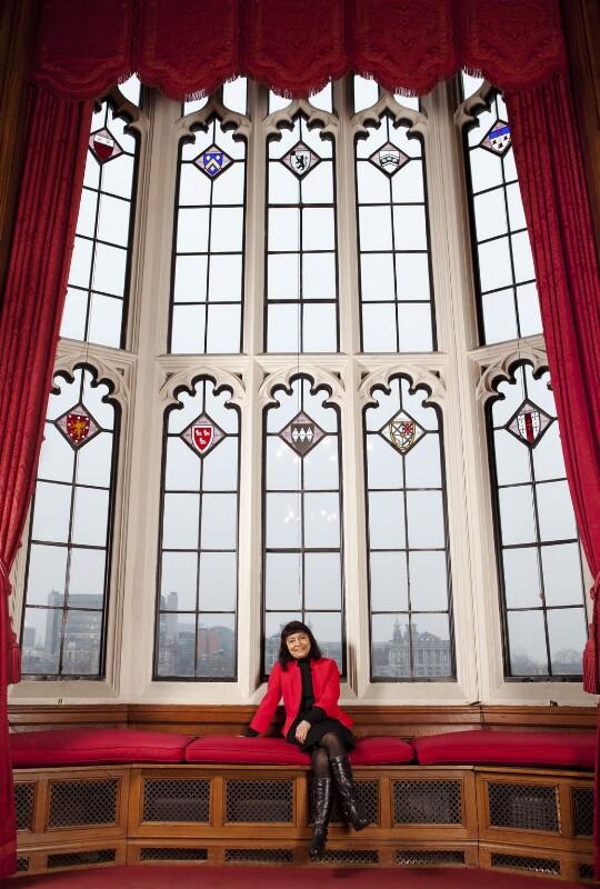Haleh Afshar, Baroness Afshar, by Nancy Honey,  - NPG x137712 - © Nancy Honey