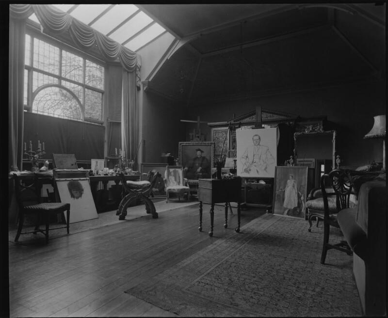 James Gunn's studio, by Paul Laib, 1950s - NPG x137728 - The de Laslzo Collection of Paul Laib Negatives, Witt Library, The Courtauld Institute of Art, London © The de Laslzo Foundation
