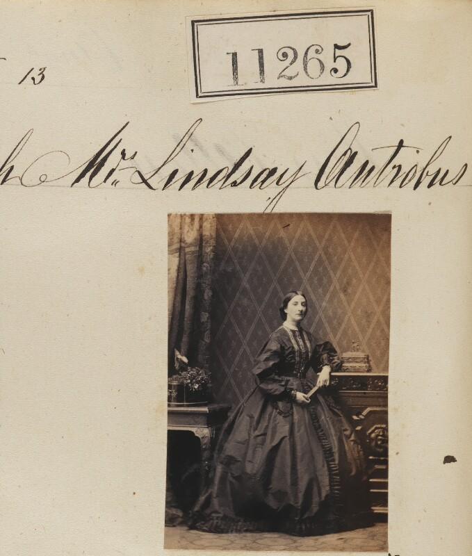 Mary Antrobus (née Adam), by Camille Silvy, 13 August 1862 - NPG Ax60960 - © National Portrait Gallery, London