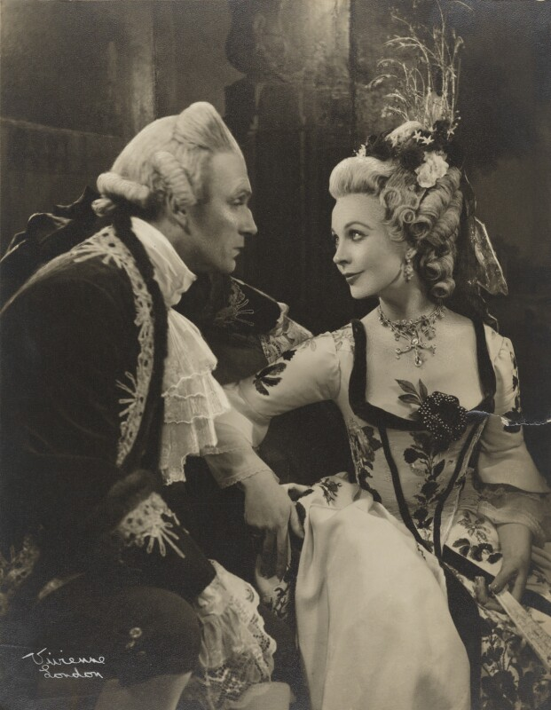 Vivien Leigh and Laurence Olivier in 'School for Scandal', by Vivienne, 1949 - NPG x137764 - © reserved; collection National Portrait Gallery, London