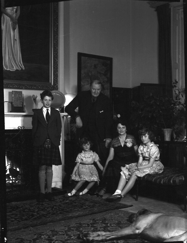1st Baron Killearn and family, by Navana Vandyk, 15 January 1953 - NPG x98776 - © National Portrait Gallery, London