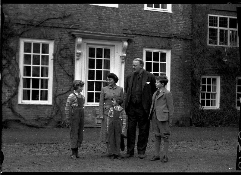 1st Baron Killearn and family, by Navana Vandyk, 15 January 1953 - NPG x98778 - © National Portrait Gallery, London