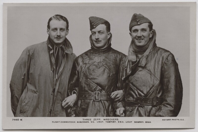 William Leefe Robinson; Wulstan Joseph Tempest; Frederick Sowrey, for Rotary Photographic Co Ltd, circa 1917 - NPG x137771 - © National Portrait Gallery, London