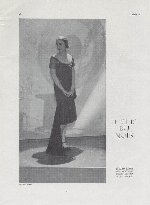 Iya (née de Gay), Lady Abdy, by Baron George Hoyningen-Huene, published June 1929 - NPG x137775 - © reserved; collection National Portrait Gallery, London