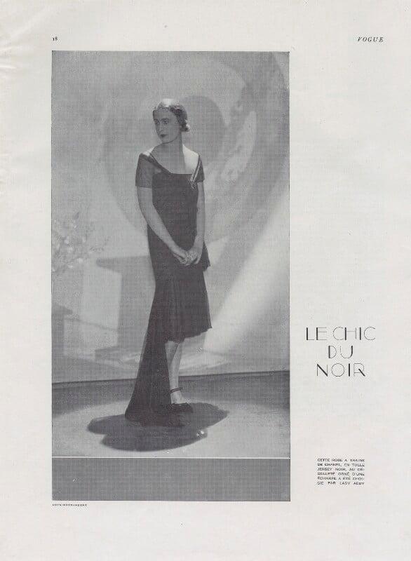 Iya (née de Gay), Lady Abdy by Baron George Hoyningen-Huene tear sheet, published June 1929