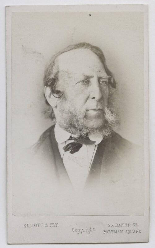 George Cruikshank, by Elliott & Fry, 1860s - NPG Ax39831 - © National Portrait Gallery, London