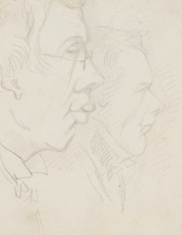 Two unknown sitters, by Sebastian Evans, circa 1840s-1880s - NPG 2173(28) - © National Portrait Gallery, London