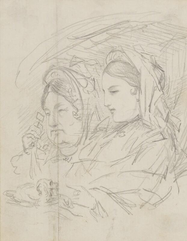 Two unknown sitters, by Sebastian Evans, circa 1840s-1880s - NPG 2173(40) - © National Portrait Gallery, London