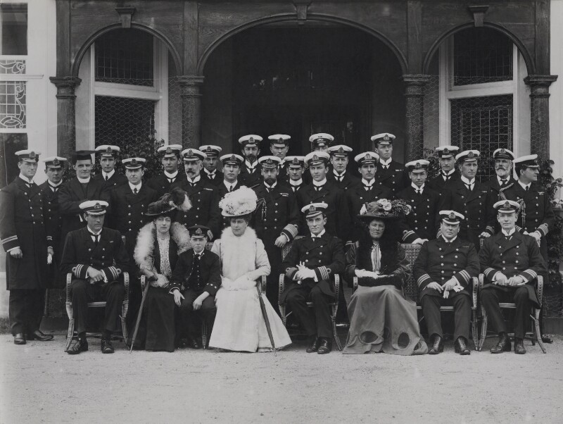 Group at the Royal Naval College, by William Umpleby Kirk & Son, 1910 - NPG x137830 - © National Portrait Gallery, London