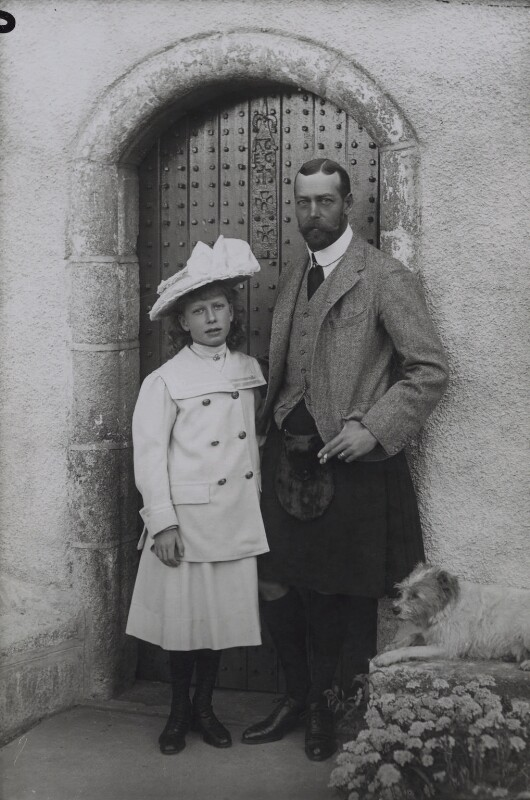 Princess Mary, Countess of Harewood; King George V, by W. & D. Downey, 1906 - NPG x137835 - © National Portrait Gallery, London