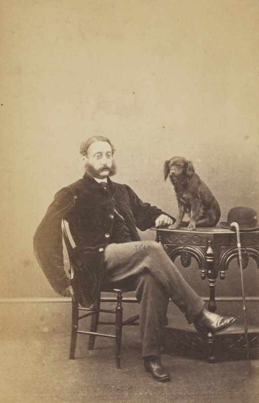 Arthur A'Court Fisher with Charlie, by Unknown photographer, 1860s - NPG Ax137942 - © National Portrait Gallery, London