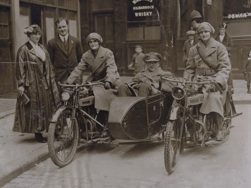 Elsie Knocker; Baron Harold de T'Serclaes; Mairi Chisholm, by Unknown photographer, circa 1916 - NPG x137849 - © National Portrait Gallery, London