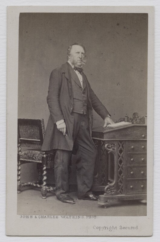 George Cruikshank, by John & Charles Watkins, 1860s - NPG x137947 - © National Portrait Gallery, London