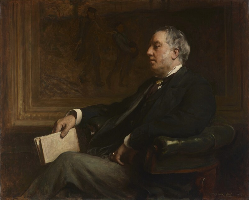 Sir William Agnew, 1st Bt, by Frank Holl, 1883 - NPG 6991 - © National Portrait Gallery, London