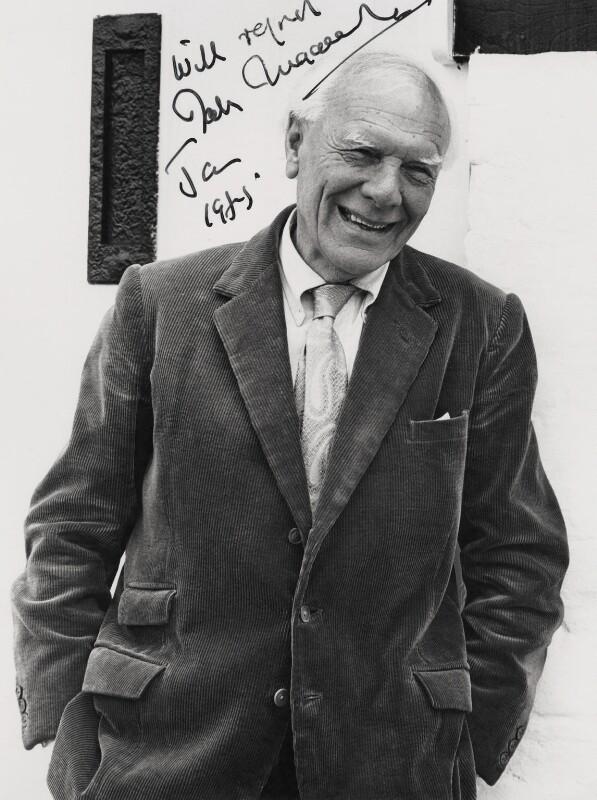 Malcolm Muggeridge, by Godfrey Argent, 1950s - NPG x21433 - © National Portrait Gallery, London