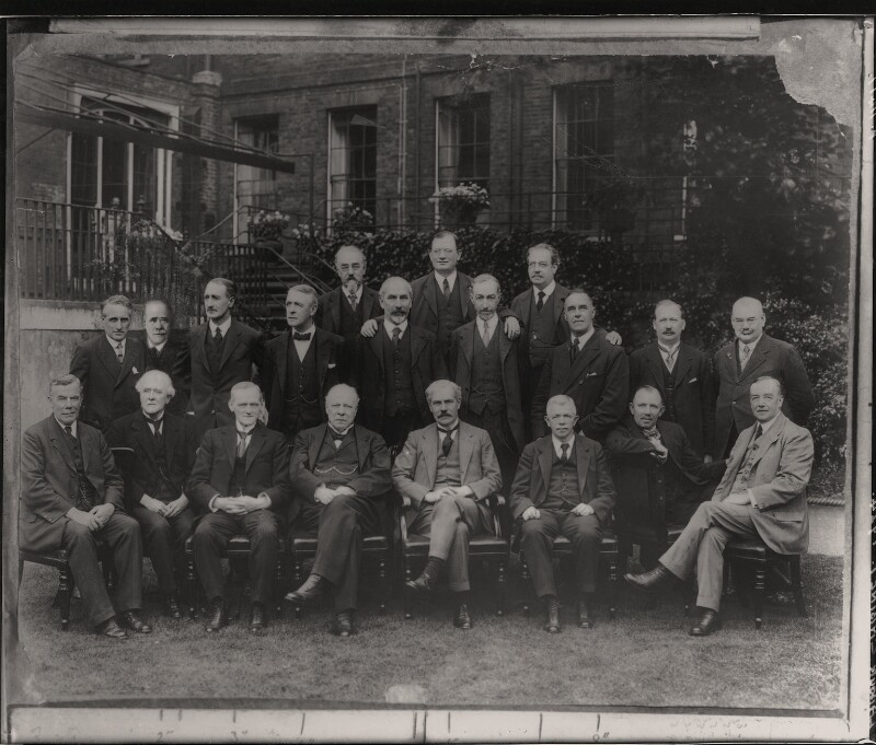 Ramsay MacDonald and his cabinet of 1924, by Elliott & Fry, 1924 - NPG x182171 - © National Portrait Gallery, London
