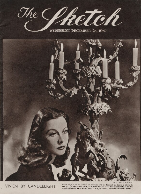 Vivien Leigh, by Antony Beauchamp, published 24 December 1947 - NPG x137968 - © National Portrait Gallery, London