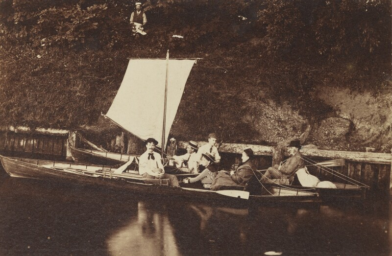 'Thames trip', by Unknown photographer, Summer 1886 - NPG Ax160619 - © National Portrait Gallery, London