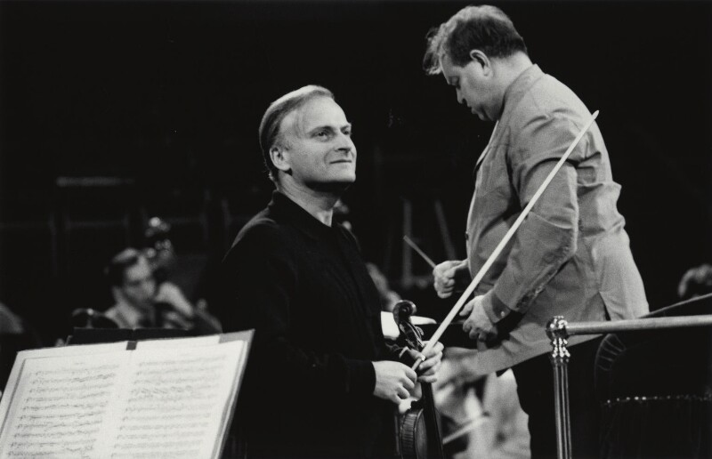 Yehudi Menuhin; David Oistrakh, by Michael Peto, September 1963 - NPG x138052 - © University of Dundee The Peto Collection